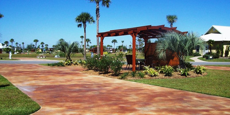Luxury Class A RV pull through lot at Bella Terra of Gulf Shores with premium amenities