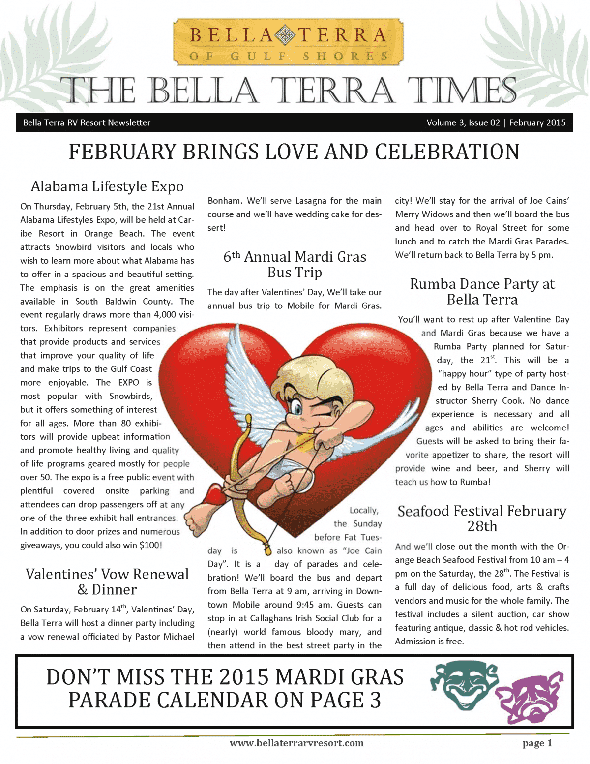 Bella Terra Newsletter Cover Page February 2015